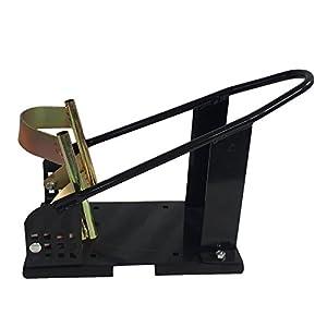 Million Parts Motorcycle Wheel Chock Nest Cradle Removable Adjustable Self Locking Bike Stand Lift Mount Trailer Truck (Black)