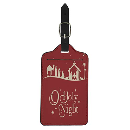 Pinbeam Luggage Tag Holy Christmas Nativity Scene Silhouette Family Manger Baby Suitcase Baggage Label]()
