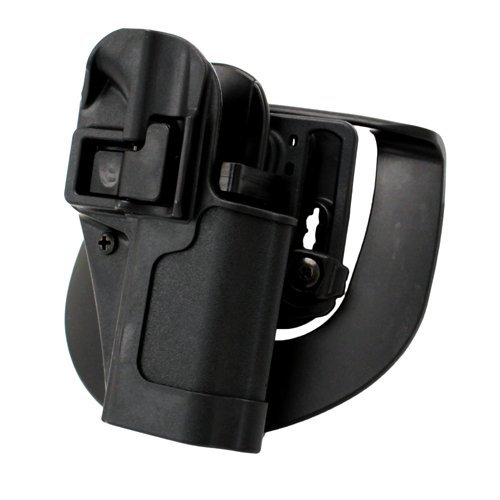 BlackHawk Serpa CQC Belt Loop and Paddle Holster For Ruger SR9 Right Hand Black - 410541BK-R (Best Owb Holster For Ruger Sr9c)
