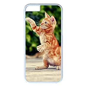 iCustomonline Kitten Walking Designed Hard PC White Case for iPhone 6 (4.7 inch) Cover Skin