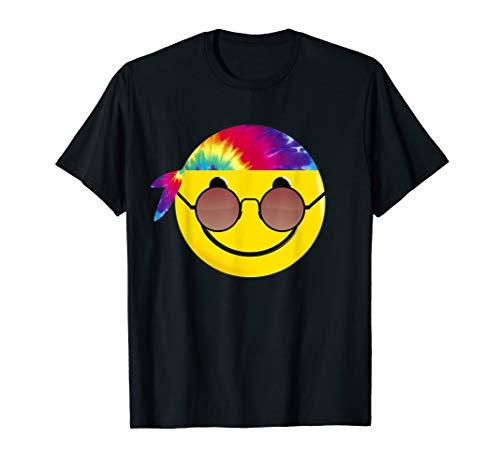 Hippie Tie Dye Emoji Sunglasses Headband Funny -