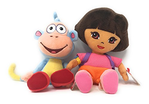 Ty Beanie Babies Dora the Explorer set of 2, Dora and - Dora Explorer The Beanie