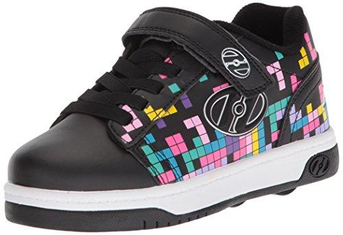 Heelys Girls' Dual UP X2 Tennis Shoe, Black/Block Print, 3 M US Little Kid