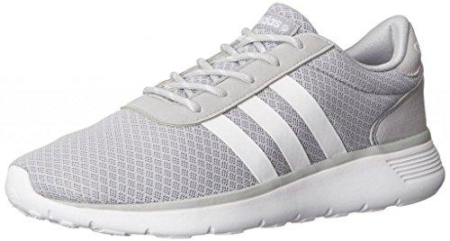 Adidas NEO Women's Lite Racer Running Shoe,Clear Onix/Running White/Running White,6.5 M US