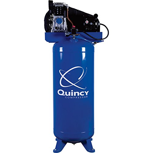- Quincy Single-Stage Air Compressor - 3.5 HP, 220 Volt, 60-Gallon Vertical Tank, Model# Q13160VQ