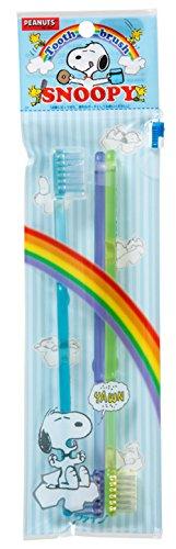 フィードオン遠近法電話をかけるファイン 歯ブラシ カラフルスヌーピー 3本組 ブルー