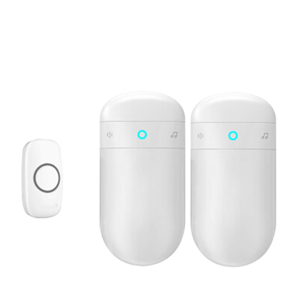 1transmitter+2receiver Home Wireless Doorbell, Plug-in Receiver + Transmitter (Battery Required), ABS Material, Home Company,1Transmitter+2Receiver