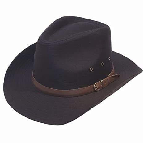 Uomo nero Stetson da cowboy stile cappello a larga tesa 58 57 Cms  Amazon.it   Casa e cucina 653a6bd5953c