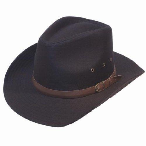 Herren Breiter Brim Stetson Cowboy Hut Schwarz 57/58 Cms
