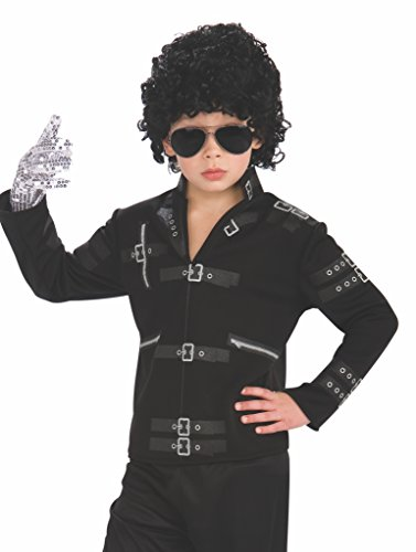 Michael Jackson Child's Value Bad Buckle Jacket Costume Accessory, (Bad Boy Halloween Costume)