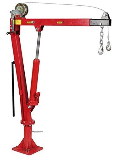 Treuil Grue Hydraulique de Levage Pliable Pivotante 0,9T Hayon pick up avec bras reglable 360/° Ref:TM//SX0204-1B