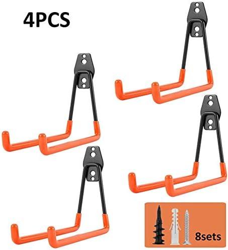 Estanter/ía para herramientas de alta resistencia 4 paquetes ganchos de pared para garaje ganchos resistentes sillas de doble gancho