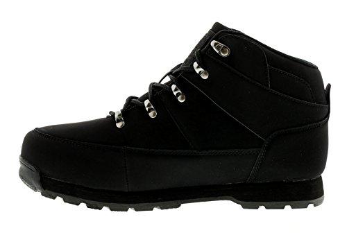 NEU Herren / Herren schwarz Henleys Oakland schnürbar Mode Stiefel - schwarz - UK Größen 7-12