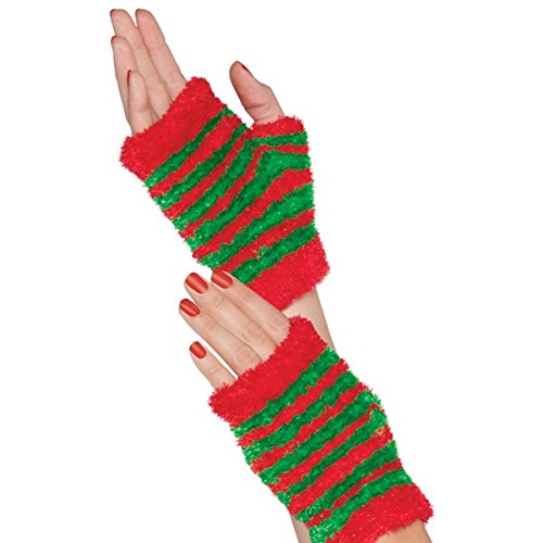 [Amscan Womens Elf Glovelettes for Christmas and Holidays - 1 Pair] (Elf Outfit For Women)