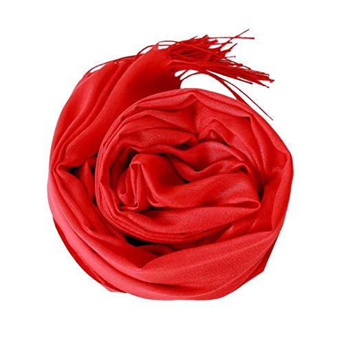 HITSAN INCORPORATION solid color soft women scarf cashmere-like scarves  lady summer thin shawls wraps winter pashmina femal hijab headband d at  Amazon ... 3abb90a0734