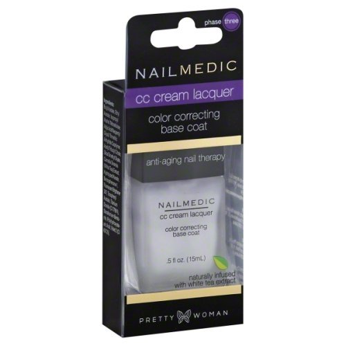 Pretty Woman Nail Medic CC Cream Lacquer Color Correcting Base Coat VEGAN