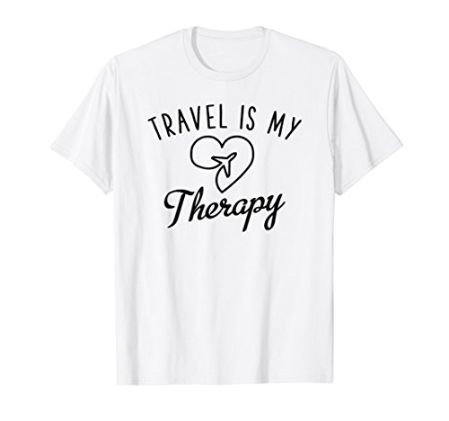 Travel Is My Therapy T-Shirt - World Travel Gift Idea by Travel Lovers Gift Shirts (Image #2)