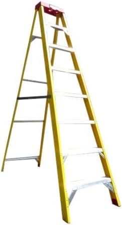 Escalera con 4 peldaños de fibra de vidrio para electricistas, escalera: Amazon.es: Bricolaje y herramientas