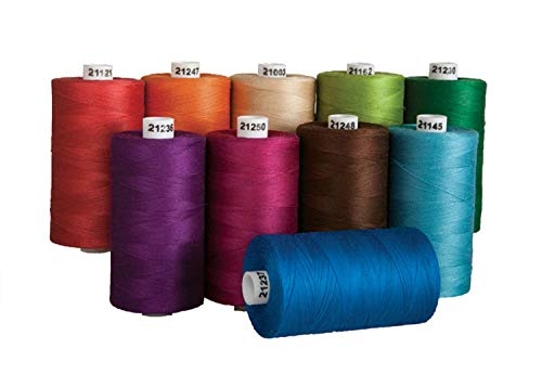 Connecting Threads 100% Cotton Thread Sets - 1200 Yard Spools (Bejeweled - set of 10)