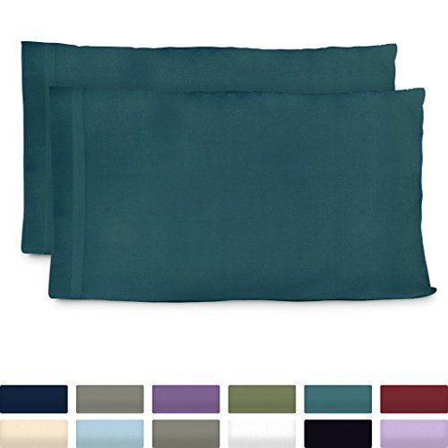 Cosy House Collection Premium Bamboo Pillowcases - Standard, Dark Teal Pillow Case Set of 2 - Ultra Soft & Cool Hypoallergenic Blend from Natural Bamboo Fiber from Cosy House Collection