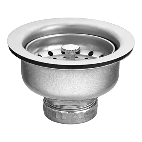 Moen 22037 3-1/2 Inch Drop-In Basket Strainer with Drain Assembly, Satin (Moen Drop In Sink)