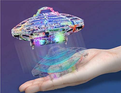 Mini Drone UFO Multicolore Enfants Adulte Famille Jouet Volant quadricoptère Amusant Hélicoptère Contrôlé à La Main, Cadeau Jouet pour Garçons et Filles idéal pour Anniversaire ou noël