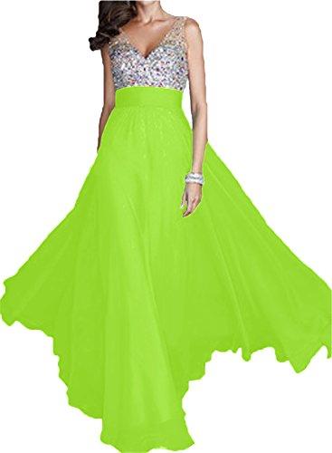 Festkleid Damen V Ausschnitt Chiffon Promkleid Partykleid Ivydressing Lang Linie Hellgruen Elegant A Abendkleid fzwEpddqRx