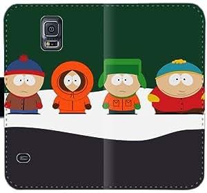 Caja del cuero de South Park Cartman D8Y0E Funda Samsung Galaxy S5 funda YS45D8 caso del tirón del teléfono funda protectora personalizada