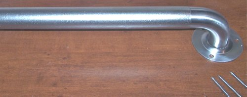 16'' Grab Bars-Stainless Steel, Safety Grip ''knurled'' Textured surface aids in gripping- Flange Type-Double Welded-Packed in the original hang-bags for resale. Double Welded by FOOTIU