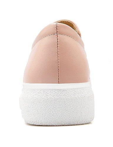 us8 Uk6 negro De Bajo Mujer Pink Black casual Zapatos Redonda Rosa punta 5 Gyht mocasines 5 tacón Eu36 Cn39 semicuero Uk3 Cn35 Zq Blanco us5 Eu39 PwqZxnXTEE
