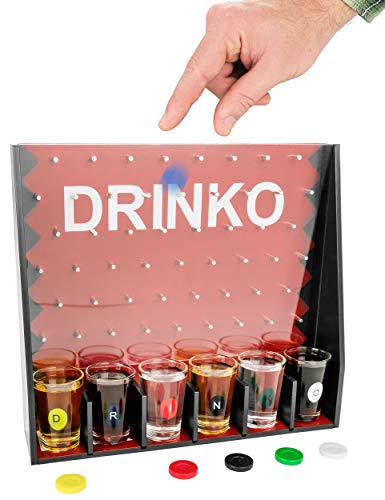 DRINKO Drinking Game – Fairly Odd Novelties – Fun Social Shot Glass Party Game for Groups / Couples