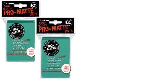 Ultra Pro Pro-Matte Small (120 Count) Aqua Deck Protector Sleeves - Yugioh ()