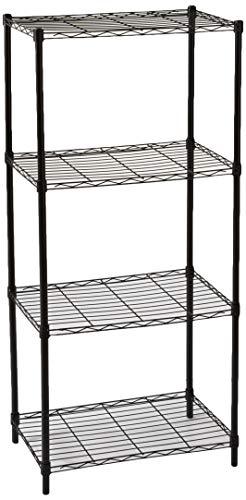 Home Basics Wire Shelving Storage Unit (4 Tier, Black) ()