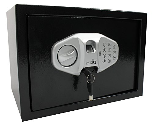 Home Office Gun Safe Box – Open by Electronic Biometric Fingerprint Scanning, Keys, Combination Digital Code – Security for Jewelry Cash Money Documents For Office Hotel