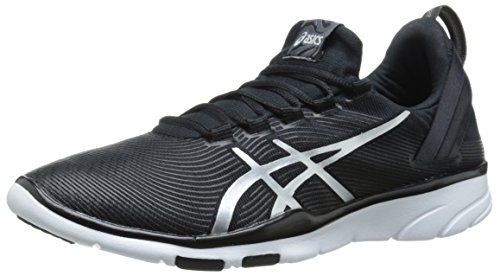 ASICS Women's Gel Fit Sana 2 Fitness Shoe, Black/White/Silver, 11 M US by ASICS