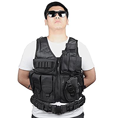 Goetland 600D Polyester Tactical Vest Outdoor Ultra-Light Combat Training Vest CS Adjustable S-XXL