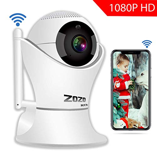 IP Camera ZOZO MAXV Wireless HD1080P 3D 360 Degree Panorama Indoor with WiFi Night VisionTwo-Way Audio & Motion Detection Digital Zoom/Pan/Tilt,for Baby/Elder/Pet/Nanny Monitor/Home Security System
