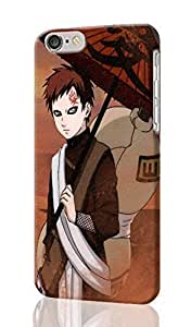 Gaara - Naruto Pattern Image - Protective 3d Rough Case Cover - Hard Plastic 3D Case - For iPhone 6 Plus- 5.5
