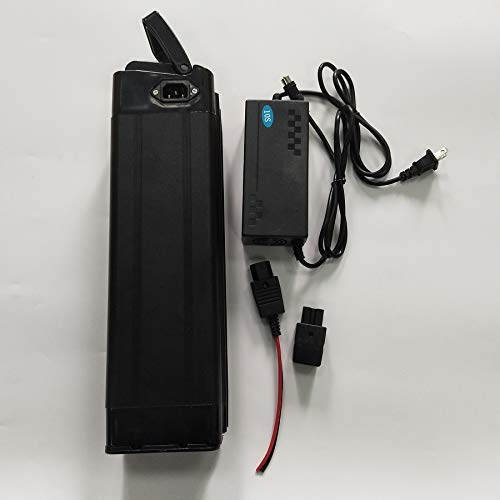 36V Li-ion Lithium Battery Pack Case 3A Charger BMS Rechargeable Electric Scooter for 500W ()