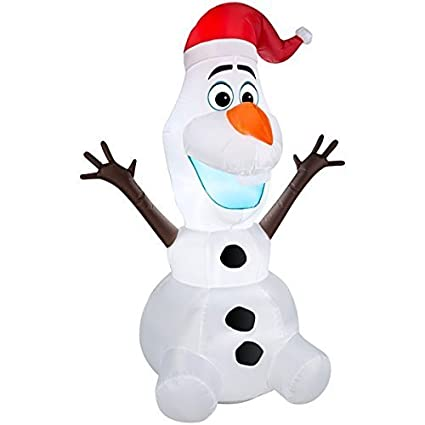 Amazon.com: Disney Olaf de Frozen 6 foot airblown inflable ...