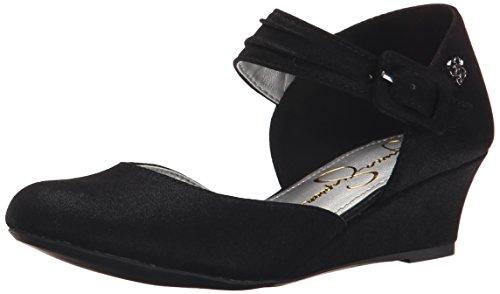 4 Heel Shoes (Jessica Simpson Tatiana Wedge (Little Kid/Big Kid), Black, 4 M US Big Kid)