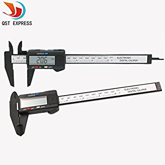 Generic LSHAZI03590 New 150Mm 6Inch Lcd Digital Electronic Carbon Fiber Vernier Caliper Gauge Micrometer Free Shipping