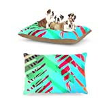 Kess InHouse Alison Coxon Cool Tropical Blue Green Dog Bed by Kess InHouse