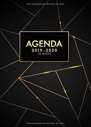 Agenda 2019 2020 18 meses: Agenda 18 meses 2019-2020 semana vista, julio 2019 - diciembre 2020, negro por Papeterie Collectif
