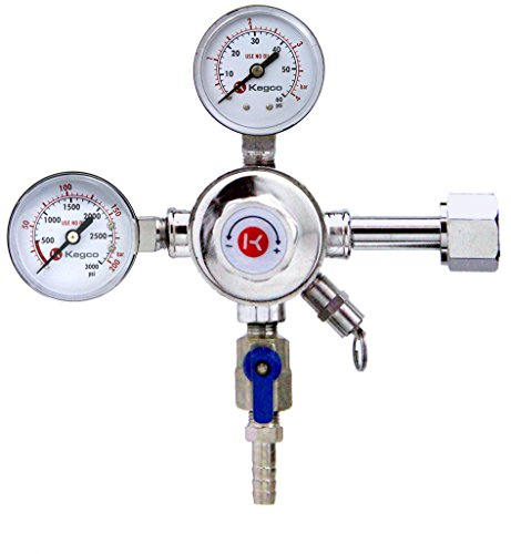 Silver Plated Body (Kegco KC LH-542 Premium Pro Series Dual Gauge Co2 Draft Beer Regulator, Chrome)