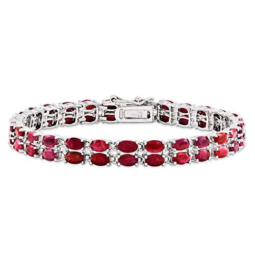 Perfect Jewelry Gift Sterling Silver Ruby Bracelet