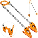 Mophorn Drum Lifter 2000 lbs Capacity Orange Chain Drum Lifter Lifting Chain G80 Drum Lifter Clamp for 30 and 55 Gallon Drums