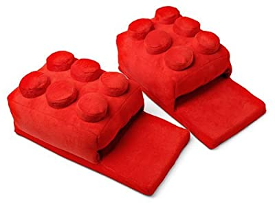 AugenblickTM Building Brick Slippers Red One Size Fits Most