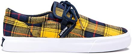 Supra Men's Skateboarding Shoes, Multicolour Dandelion Plaid White M 750, Womens 8
