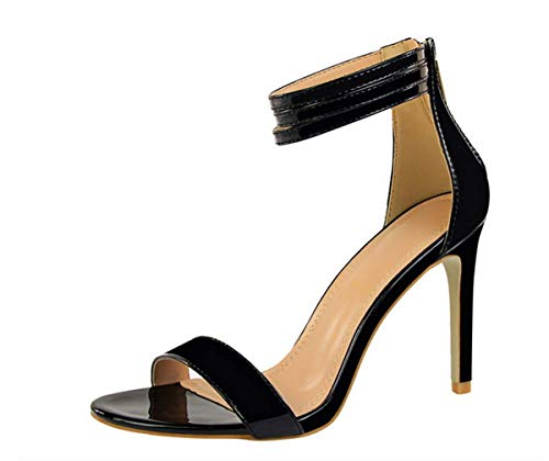 Summer SFSYDDY 10Cm And Heel Medium High Sexy Shoes Students Buckles Golden Fine AXq1xqrd